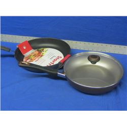 "2 New Frying pans 12"" & 10"""