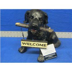 Black Lab Welcome dog
