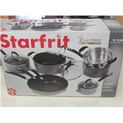 New 12 piece Starfrit La forge Classic pot and pan set