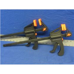 """Set of 2 ratcheting bar  clamps 12"""""""