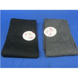 2 New Girls Fleece lined Leggings size 10/12