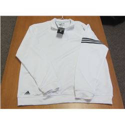 New Adidas white golf shirt size large