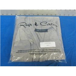 Rags + Couture open front shawl size large / grey