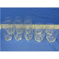 Lot of 10 New drink glasses