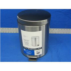 New Stainless steel pedel bin garbage can / 5 litre