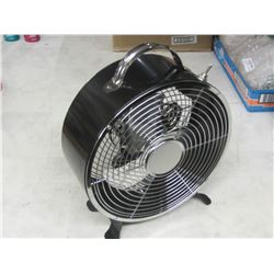 """New 9"""" Retro all metal Drum fan with aluminum blades"""