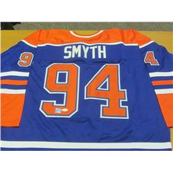 Hand Signed Ryan Smith # 94 Oilers Jersy with J.S.A & Universal C.O.A'S