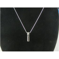 """22"""" stainless chain with cubic stone in cross"""