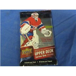 Factory Sealed 2015/16 Upper Deck Young Guns Hockey Cards
