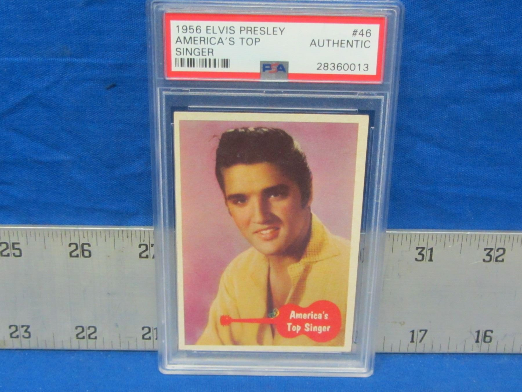 1956 Elvis Presley 46 Collector Card With Psa Coa Authentic