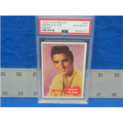 1956 Elvis Presley # 46 collector card with P.S.A coa authentic