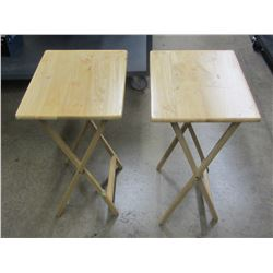 2 Wood TV Tables