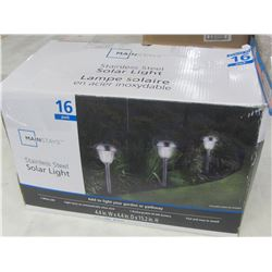 New 16 piece Stainless steel Solar Lights