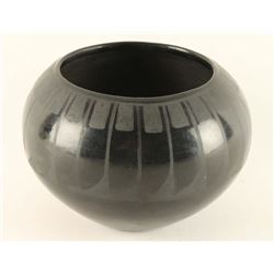 San Ildefonso Pond Lily Blackware Bowl