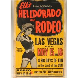 Vintage Rodeo Advertising Poster