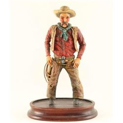 Wood Carved Cowboy by Dee Flagg