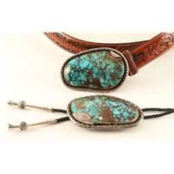 Large Matching Bolo & Belt Buckle