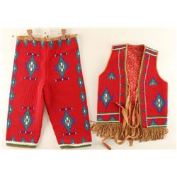 Sioux Indian Beaded Childs Outfit