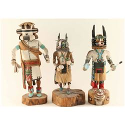 Lot of 3 Hopi Kachinas