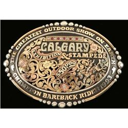 Bob Berg's Silverdales Sterling & Gold Buckle