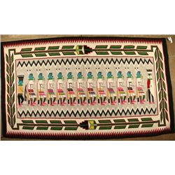 Large Colorful Mexican Rug