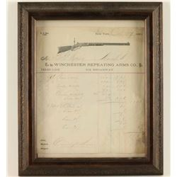 1881 Winchester Rifle Company Receipt