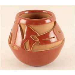 Santa Clara Incised Carved Pot