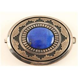 Sterling Silver & Lapis Belt Buckle