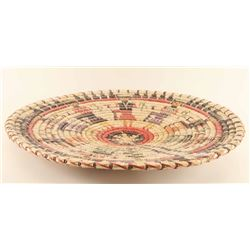 Large Figural Basketry Tray