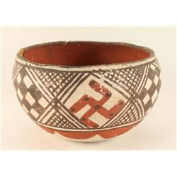 Isleta Pot with Whirling Log Symbol