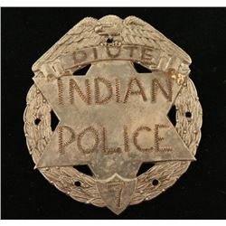 Old West Piute Indian Police #7 Law Badge
