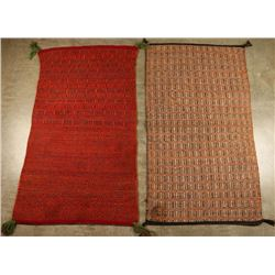 Collection of 2 Mexican Sunday Saddle Blankets