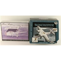 Collection of 2 Model Airplane Replicas