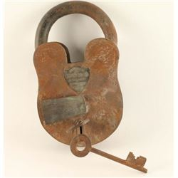 Large Old West Wells Fargo & Co. Lock & Keys