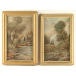 Lot of 2 Original Oils on Board