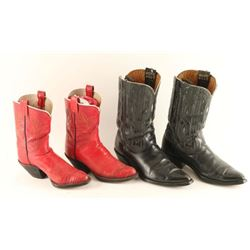 Two Pairs Cowboy Boots