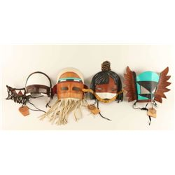 Lot of 4 Native American Masks