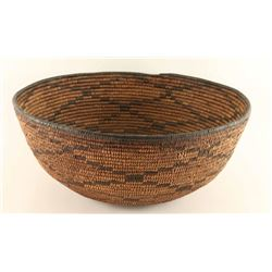 Large Apache Basket with Diamond Pattern