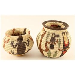 Collection of 2 Wounaan Baskets