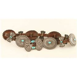 Old Pawn Navajo Concho Belt