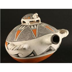 Acoma Turtle Polychrome Canteen Pottery