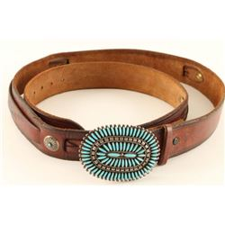 Pettipoint Turquoise Belt Buckle