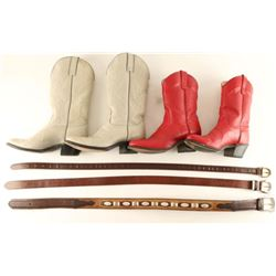 Two Pairs All American Made Cowgirl Boots