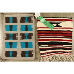 2 Small Navajo Sampler Rugs