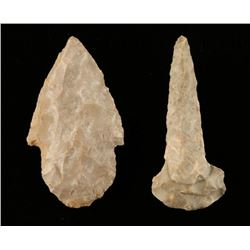Lot of 2 Stone Points