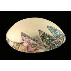 Sterling & Abalone Brooch