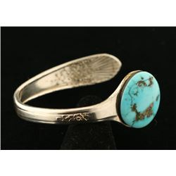 Spoon Cuff with Turquoise Cab