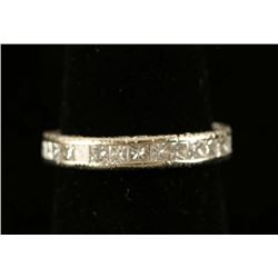 Princess Cut Art Deco Filigree Band