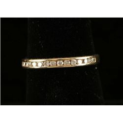 Gold Band Inset with Diamonds