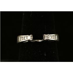 Diamond & White Gold Ring Guard